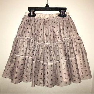 Old Navy tutu skirt, blush pink/nude w/black dots